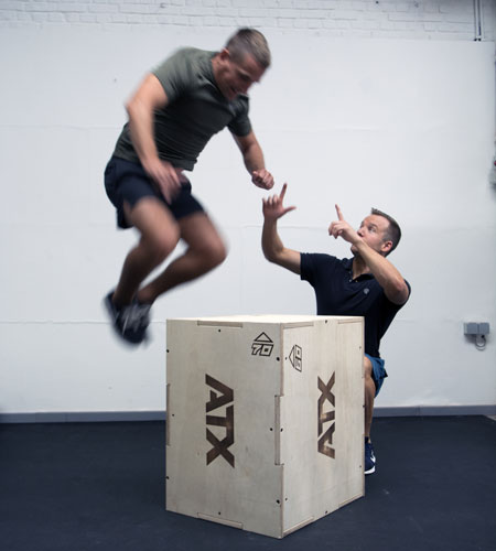 Personal Trainer Leuven box jumps